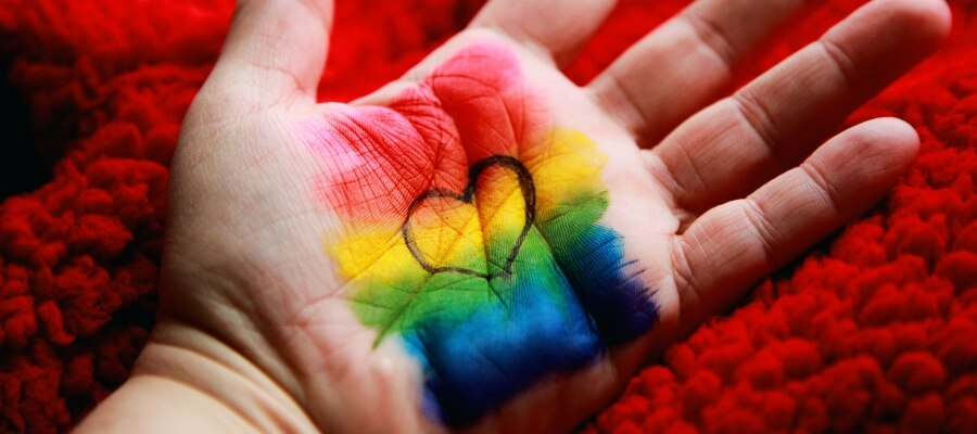 LGBT Colors Painted in Hand
